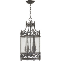 Lorenco 4 Light 12 inch Spanish Silver Foyer Light Ceiling Light