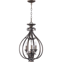 Quorum 6794-3-86 Randolph 3 Light 15 inch Oiled Bronze Foyer Light Ceiling Light
