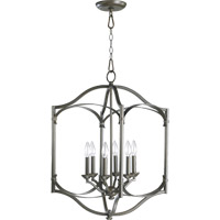 Quorum International Atwood 6 Light Foyer Light in Oiled Bronze 6796-6-86