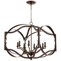 Quorum 6796-8-86 Atwood 8 Light 23 inch Oiled Bronze Entry Pendant Ceiling Light, Quorum Home