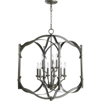 Quorum 6796-9-86 Atwood 9 Light 22 inch Oiled Bronze Foyer Light Ceiling Light