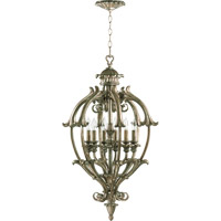 Quorum International Barcelona 6 Light Foyer Light in Mystic Silver 6800-6-58