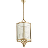 Quorum 6803-4-60 Lucca 4 Light 14 inch Aged Silver Leaf Foyer Light Ceiling Light