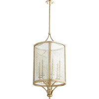 Quorum Lucca 6 Light Foyer Light in Aged Silver Leaf 6803-6-60
