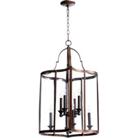 Quorum 6804-8-86 Kaufmann 8 Light 19 inch Oiled Bronze Foyer Light Ceiling Light