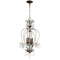 Quorum 6805-4-39 Ariel 4 Light 15 inch Vintage Copper Foyer Pendant Ceiling Light