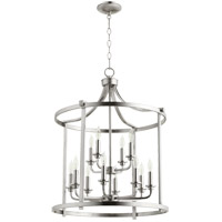 Quorum 6807-12-65 Lancaster 12 Light 22 inch Satin Nickel Foyer Pendant Ceiling Light
