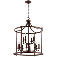 Lancaster 12 Light 22 inch Oiled Bronze Foyer Pendant Ceiling Light