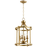Quorum 6807-4-80 Lancaster 4 Light 13 inch Aged Brass Foyer Pendant Ceiling Light