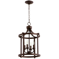 Lancaster 4 Light 13 inch Oiled Bronze Foyer Pendant Ceiling Light