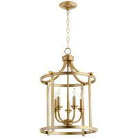 Lancaster 5 Light 16 inch Aged Brass Foyer Pendant Ceiling Light