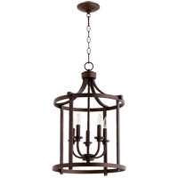 Quorum 6807-5-86 Lancaster 5 Light 16 inch Oiled Bronze Foyer Pendant Ceiling Light