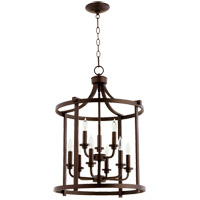 Quorum 6807-9-86 Lancaster 9 Light 18 inch Oiled Bronze Foyer Pendant Ceiling Light