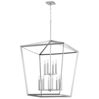 Quorum 6809-12-64 Manor 12 Light 29 inch Classic Nickel Entry Pendant Ceiling Light
