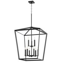 Quorum 6809-9-69 Manor 9 Light 25 inch Noir Entry Pendant Ceiling Light