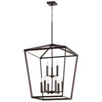 Quorum 6809-9-86 Manor 9 Light 25 inch Oiled Bronze Entry Pendant Ceiling Light