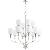 Quorum 6811-12-62 Richmond 12 Light 34 inch Polished Nickel Chandelier Ceiling Light