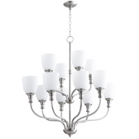 Quorum 6811-12-65 Richmond 12 Light 34 inch Satin Nickel Chandelier Ceiling Light