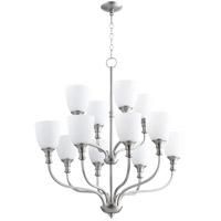 Quorum 6811-12-65 Richmond 12 Light 34 inch Satin Nickel Chandelier Ceiling Light