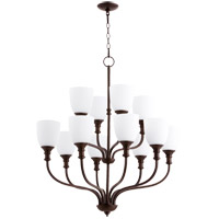 Quorum 6811-12-86 Richmond 12 Light 34 inch Oiled Bronze Chandelier Ceiling Light