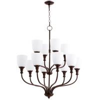 Quorum 6811-12-86 Richmond 12 Light 34 inch Oiled Bronze Chandelier Ceiling Light