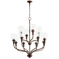 Quorum 6811-12186 Richmond 12 Light 34 inch Oiled Bronze Chandelier Ceiling Light