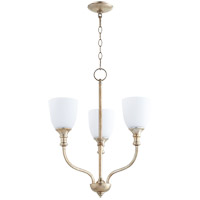 Quorum 6811-3-60 Richmond 3 Light 18 inch Aged Silver Leaf Chandelier Ceiling Light