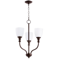 Quorum 6811-3-86 Richmond 3 Light 18 inch Oiled Bronze Chandelier Ceiling Light