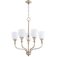 Quorum 6811-5-60 Richmond 5 Light 24 inch Aged Silver Leaf Chandelier Ceiling Light