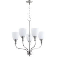 Quorum 6811-5-65 Richmond 5 Light 24 inch Satin Nickel Chandelier Ceiling Light