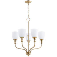Quorum 6811-5-80 Richmond 5 Light 24 inch Aged Brass Chandelier Ceiling Light