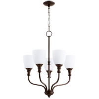 Quorum 6811-5-86 Richmond 5 Light 24 inch Oiled Bronze Chandelier Ceiling Light