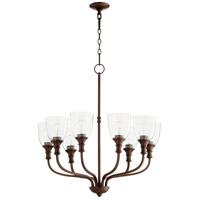 Quorum 6811-8-186 Richmond 8 Light 31 inch Oiled Bronze Chandelier Ceiling Light in Clear Seeded