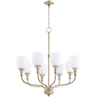 Richmond 8 Light 31 inch Aged Silver Leaf Chandelier Ceiling Light