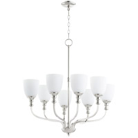 Quorum 6811-8-62 Richmond 8 Light 31 inch Polished Nickel Chandelier Ceiling Light