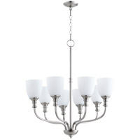Quorum 6811-8-65 Richmond 8 Light 31 inch Satin Nickel Chandelier Ceiling Light