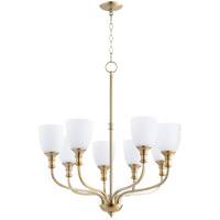 Quorum 6811-8-80 Richmond 8 Light 31 inch Aged Brass Chandelier Ceiling Light