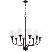 Quorum 6811-8-86 Richmond 8 Light 31 inch Oiled Bronze Chandelier Ceiling Light
