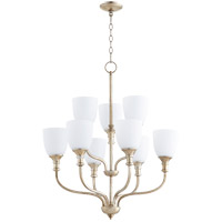 Richmond 9 Light 26 inch Aged Silver Leaf Chandelier Ceiling Light