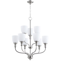 Quorum 6811-9-65 Richmond 9 Light 26 inch Satin Nickel Chandelier Ceiling Light