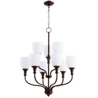 Quorum 6811-9-86 Richmond 9 Light 26 inch Oiled Bronze Chandelier Ceiling Light