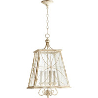 Quorum 6816-4-70 Salento 4 Light 15 inch Persian White With Mystic Silver Foyer Light Ceiling Light