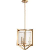 Quorum 682-3-80 Highline 3 Light 13 inch Aged Brass Pendant Ceiling Light