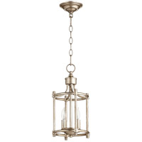 Quorum 6822-2-60 Rossington 2 Light 8 inch Aged Silver Leaf Foyer Pendant Ceiling Light