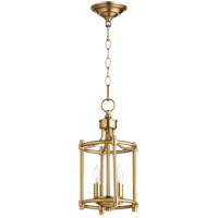 Quorum 6822-2-80 Rossington 2 Light 8 inch Aged Brass Mini Chandelier Ceiling Light