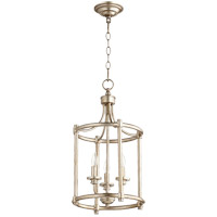 Rossington 3 Light 12 inch Aged Silver Leaf Foyer Pendant Ceiling Light