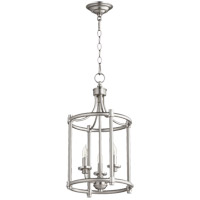 Quorum 6822-3-65 Rossington 3 Light 12 inch Satin Nickel Foyer Pendant Ceiling Light
