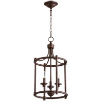 Rossington 3 Light 12 inch Oiled Bronze Foyer Pendant Ceiling Light