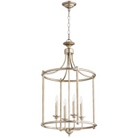 Quorum 6822-4-60 Rossington 4 Light 18 inch Aged Silver Leaf Foyer Pendant Ceiling Light