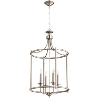 Quorum 6822-4-65 Rossington 4 Light 18 inch Satin Nickel Mini Chandelier Ceiling Light